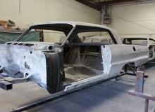 1964 impala ss on the rotisserie