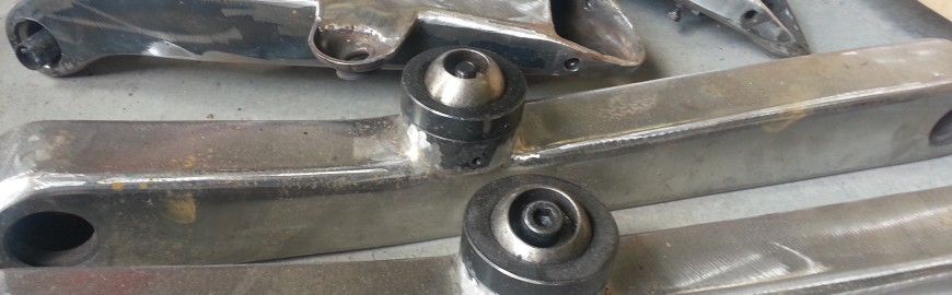 molded trailing arms