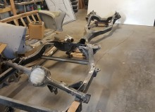 powder coated 1964 Impala frame