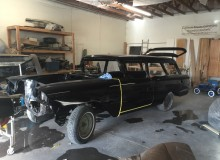 1958 Impala Yeoman just got painted black (2nd coat)