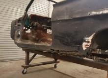 1961 Chevy Impala lower quarter panel rust