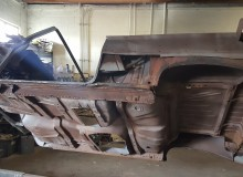 1961 Chevrolet Impala Convertible cutting out all rusted metal