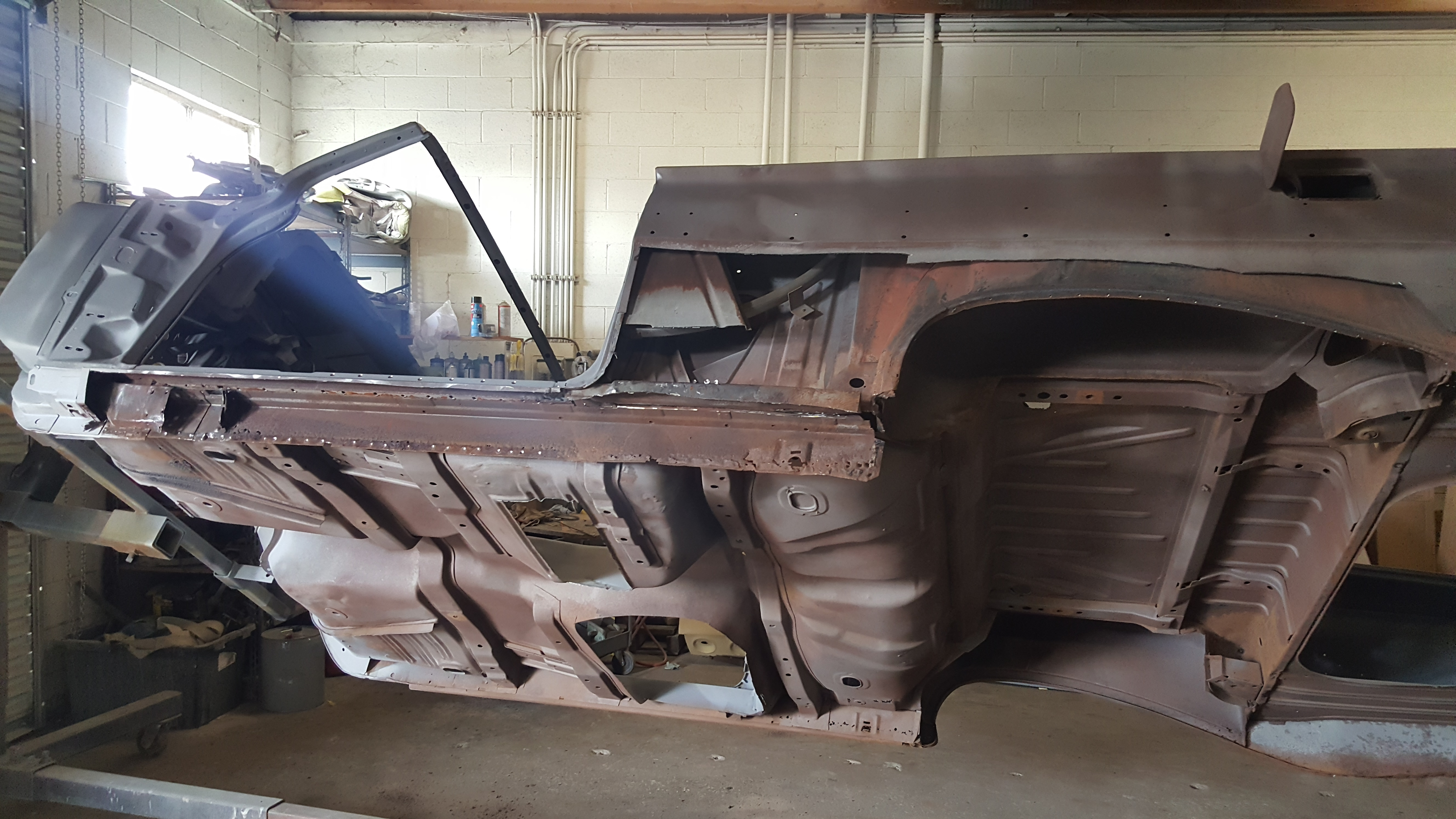 Classic Car Restoration Shop Impala Parts 1961 Convertible Chevy Lowrider Chevrolet Cutting Out All Rusted Metal