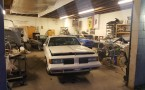 Classic car restoration shop