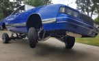 1981 El Camino with 87 Monte Carlo front end 3 wheelin