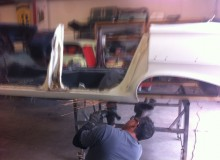 cutting up the 1961 Biscayne to fix 1961 Impala bubble top