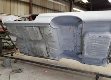 Molding the belly of 1964 Impala